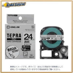 Pテープマットラベル透明黒文字 [20720] キングジム SB24T
