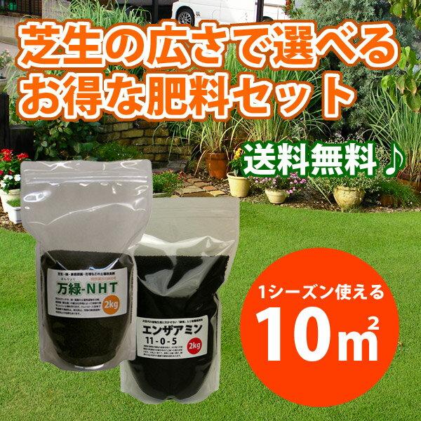 【送料無料・東北と沖縄除く】広さで選べる芝生の肥料 10平米(約3坪) 肥料・サッチ分解・病虫害予防など多機能肥料です