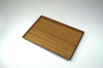 """""""Shiraki painted bamboo laminated wood Longhorn tray' (small)"""