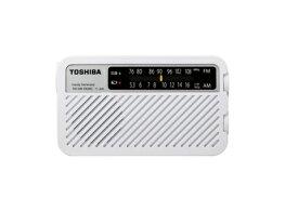 東芝 手回し充電ワイドFMラジオ TYJKR5-W ホワイト