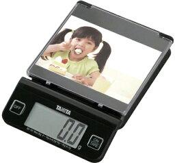 被在計量盤子裝設庫存限度百利達數碼烹調規模自己喜好的照片或者插圖的電子秤KD-191-BK TANITA KD191BK
