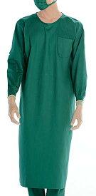 KAZEN(カゼン) メンズ手術衣 135-52(グリーン) M