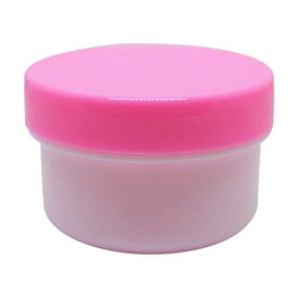 軟膏容器プラ壷N-6号(未滅菌) キャップ:ピンク 130CC(30コイリ) 1箱 エムアイケミカル 23-6687-0406