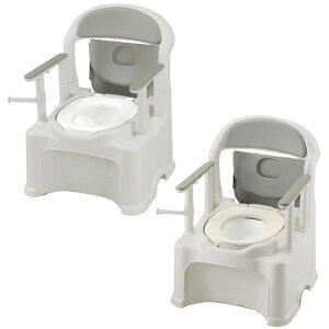 ポータブルトイレ きらくPS2型 47530(フツウベンザ) 1台 リッチェル 23-6277-00