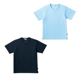 キラク 入浴介助用シャツ(男女兼用)ネイビー CR160(M) 1枚 トンボ 24-6652-0202