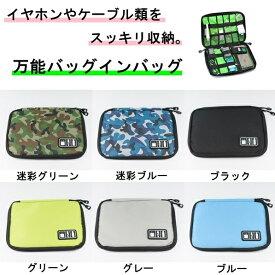 【送料無料】 バッグインバッグ スマホ モバイル収納ケース ケーブル iPhone PC周辺機器 小物 旅行 ポーチ