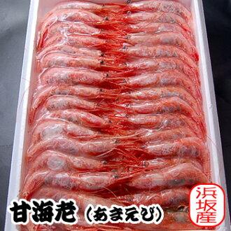 在甜蝦(船內冷凍)裏尺寸(濱坂生產)(甜蝦·亞麻蝦、amaebi、amaebi、蝦)