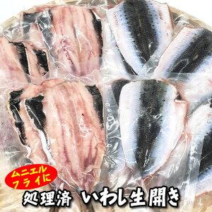 (セール)真いわし生開き(冷凍)7パック×100g以上(山陰沖産)(真イワシ、真鰯、鰯、イワシ)