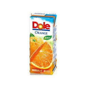 Dole オレンジジュース100% 200ml×18本 紙パック