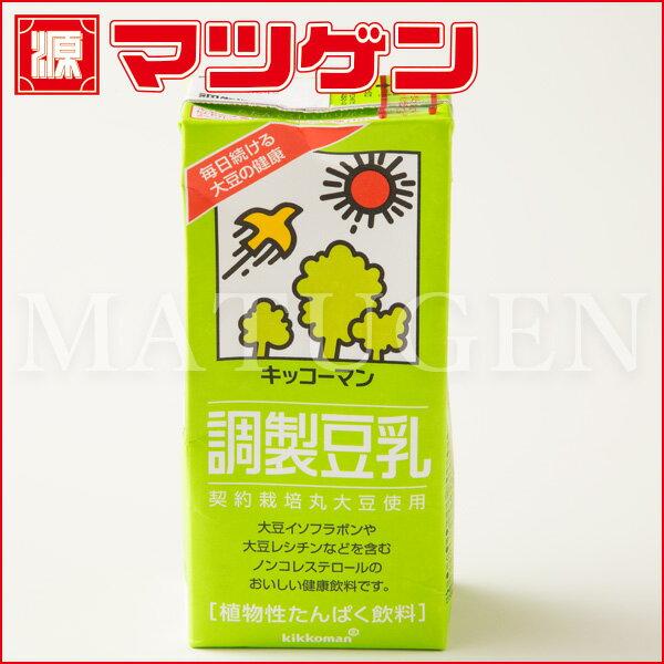 調整豆乳 キッコーマン1L×6本入