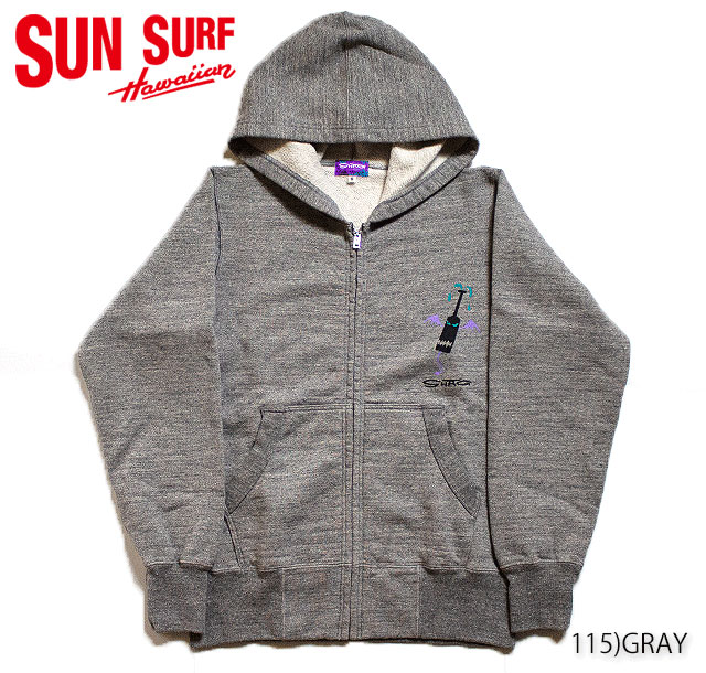 "SUN SURF×SHAGサンサーフ シャグ アロハシャツ パーカーFULL ZIP SWEAT PARKA""IWI KANAKA""Style No.SS68049"