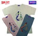 """SUN SURF × SHAGCREW NECK T-SHIRT""""BANQUET""""Style No.SS78294"""