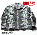 """SUN SURF サンサーフ COTTON L/S FLANNEL""""BIRD OF PARADISE"""" Style No.SS27707"""