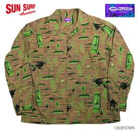"""SHAG × SUN SURFサンサーフ アロハシャツCOTTON LONG SLEEVE""""FISH BALL"""" Style No.SS28274"""