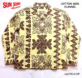 "SUNSURFサンサーフアロハシャツCOTTONFLANNELLONGSLEEVEOPENSHIRT""HAWAIIANQUILT""StyleNo.SS28524"