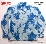 "SUNSURFサンサーフアロハシャツCOTTONFLANNELLONGSLEEVEOPENSHIRT""PINEAPPLE""StyleNo.SS28525"