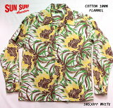 "SUNSURFサンサーフアロハシャツCOTTONFLANNELLONGSLEEVEOPENSHIRT""NIGHTBLOOMINGCEREUS""StyleNo.SS28526"