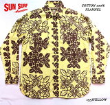 "SUNSURFサンサーフアロハシャツCOTTONFLANNELLONGSLEEVEWORKSHIRT""HAWAIIANQUILT""StyleNo.SS28527"