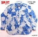 """SUN SURFサンサーフ アロハシャツCOTTON FLANNELLONG SLEEVE WORK SHIRT""""PINEAPPLE"""" Style No.SS28528"""