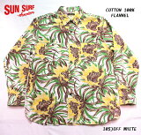 "SUNSURFサンサーフアロハシャツCOTTONFLANNELLONGSLEEVEWORKSHIRT""NIGHTBLOOMINGCEREUS""StyleNo.SS28529"