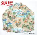 "MAUNA KEA GALLERIES × SUN SURFRAYON L/S""ISLAND CHRONICLE""Style No.SS37781MGLS"