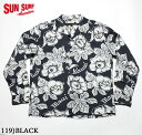 "SUN SURFRAYON L/S""PATTERN OF TROPICAL PLANTS""Style No.SS28018"