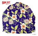 "MAUNA KEA GALLERIES × SUN SURFRAYON L/S アロハシャツ""MOON LIGHT GARDEN""Style No.SS38045MGLS"