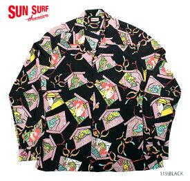 """SUN SURF×別注 サンサーフ アロハシャツRAYON L/S""""KABUKI MAKE UP""""Style No.SS38036MGLS"""