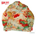 "SUN SURF サンサーフ アロハシャツRAYON L/S""DRAGON & TIGER""Style No.SS23855"