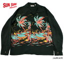 "SUN SURFRAYON L/S""ISLAND PALM BREEZE""Style No.SS38574MGLS"