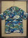 "SUN SURF サンサーフ RAYON S/S SPECIAL EDITION HALE HAWAII ""LAND OF ALOHA"" Style No.SS36984"