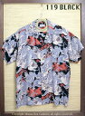 "SUN SURF サンサーフ RAYON S/S SPECIAL EDITION KALAKAUA ""ONE HUNDRED TIGER"" Style No.SS36986"