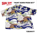 "SUN SURF サンサーフ RAYON S/S SPECIAL EDITION KALAKAUA""HUNT DOWN FROM SKY"" Style No.SS37573"