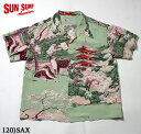 "SUN SURF サンサーフ アロハシャツRAYON S/S SPECIAL EDITION MUSA-SHIYA THE SHIRTMAKER""THE PAGODA IN FULL BLOOM"" Style No.SS37858"