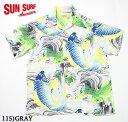 "SUN SURF サンサーフ アロハシャツRAYON S/S SPECIAL EDITION SURFRIDERS SPORTSWEAR""KOI NO TAKINOBORI""Style No.SS35067"
