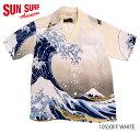"SUN SURF × 北齋サンサーフ アロハシャツRAYON S/S ""神奈川沖浪裏""Style No.SS37651"