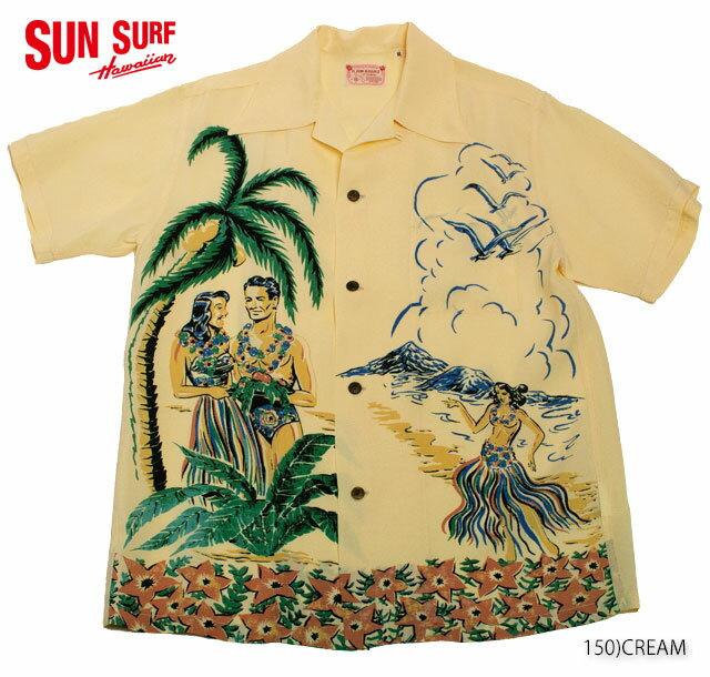 "SUN SURF サンサーフ アロハシャツRAYON S/S SPECIAL EDITION KAWAIHAU OF HAWAII""ALOHA HAWAII"" Style No.SS35494"