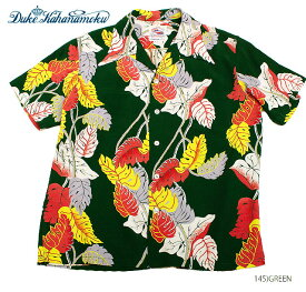 "DUKE KAHANAMOKUSPECIAL EDITIONRAYON S/S""MONSTERA""Style No.DK36203"