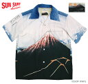 """SUN SURF × 北齋サンサーフ アロハシャツRAYON S/S """"山下白雨""""Style No.SS38197"""