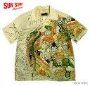 "SUN SURF × 北齋サンサーフ アロハシャツRAYON S/S ""宝船の七福神""Style No.SS38198"