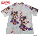 "SUN SURF サンサーフ アロハシャツRAYON S/S SPECIAL EDITION JAPANESE BAZAAR""YOSHITUNE"" Style No.SS35068"
