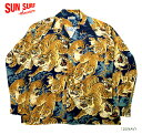 "SUN SURF×別注 サンサーフ RAYON L/S SPECIAL EDITION KALAKAUA ""ONE HUNDRED TIGERS"" Style No.SS28218"