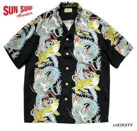 "SUN SURF サンサーフ アロハシャツRAYON S/S SPECIAL EDITION SURFRIDERS SPORTSWEAR ""TORNADO TIGER"" Style No.SS38417"