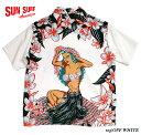 """SUN SURF サンサーフ アロハシャツRAYON S/S SPECIAL EDITION ARTVOGUE """"HULA GIRL"""" Style No.SS38423"""
