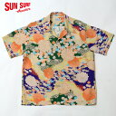 "SUN SURF サンサーフ アロハシャツRAYON S/S SPECIAL EDITION ALOHA by KING SMITH""KIMONO DESIGN"" Style No.SS38675"