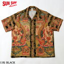 """SUN SURF サンサーフ アロハシャツRAYON S/S SPECIAL EDITION NON LABEL""""MANDALA"""" Style No.SS38711"""