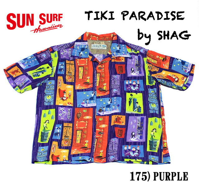 "SUN SURFKEONI OF HAWAIIRAYON S/S ""TIKI PARADISE""by SHAGStyle No.SS37654"