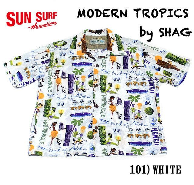 "SUN SURFKEONI OF HAWAIIRAYON S/S ""MODERN TROPICS""by SHAGStyle No.SS37655"