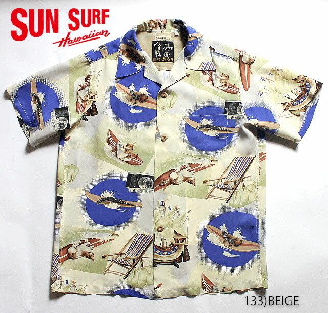 """サンサーフ アロハシャツKEONI OF HAWAIIKOHNOSUKE SAKAZAKI(THE ALFEE)RAYON S/S""""まるこうシャツ""""Style No.SS35442"""