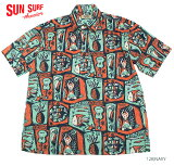 "SUNSURFbyMaskedMarvelサンサーフアロハシャツCOTTON/LINENCANVASS/SOPENSHIRT""SURFSPOT""StyleNo.SS37920"